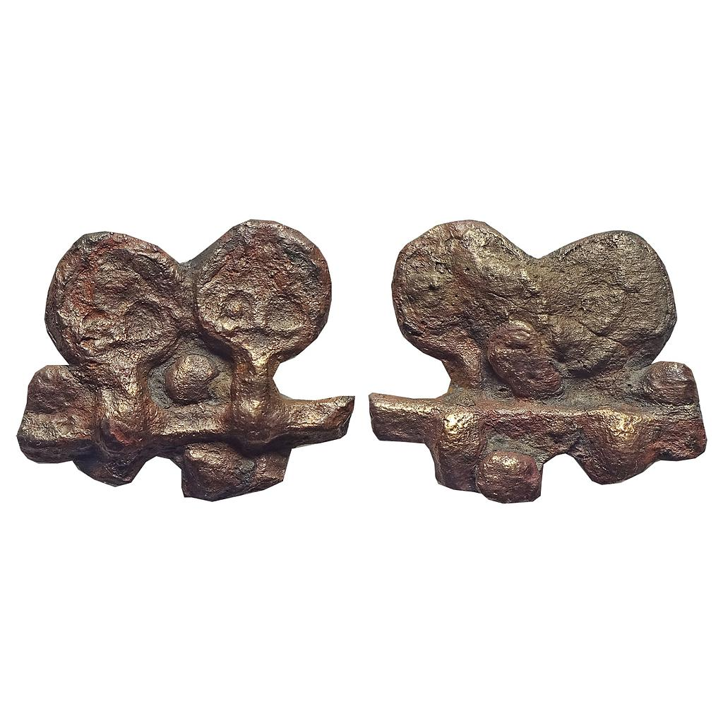 Ancient, Mauryan Period, Kaushambi Region, Cast Copper