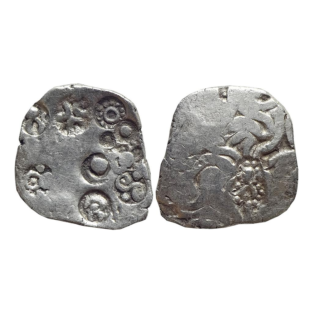 Ancient, Punch Marked Coinage, Kuru / Uttara Panchala Janapada, Kashipur Hoard type, Silver Vimshatika